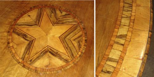 An Italian Marquetry and Walnut Circular Center Table No. 3334