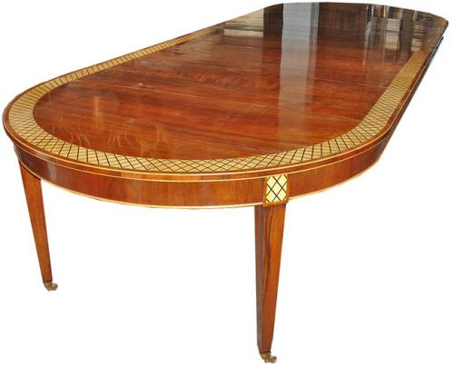 A 19th Century Neoclassical Mahogany Parquetry Dining Table No. 3043