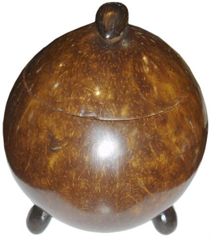A Whimsical 19th Century English Coconut Caddy No. 3372