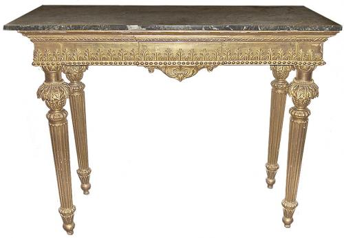 A Late 18th Century Giltwood Florentine Console Table No. 3275
