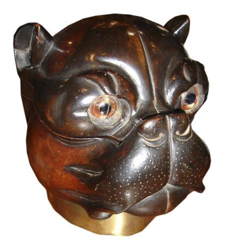 A Whimsical English Bulldog Rosewood Box No. 3408