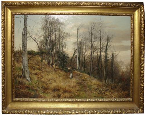 A 19th Century Oil on Canvas depicting an English Landscape No. 3451