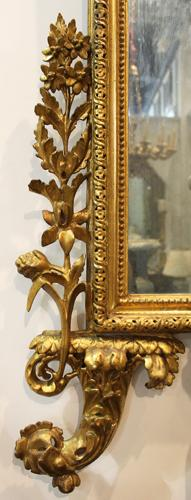 An Elegant 18th Century Italian Luccan Carved Gilt Wood Mirror No. 3434