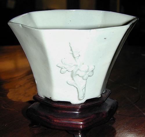 A Chinese Blanc du Chine Porcelain Vase No. 875