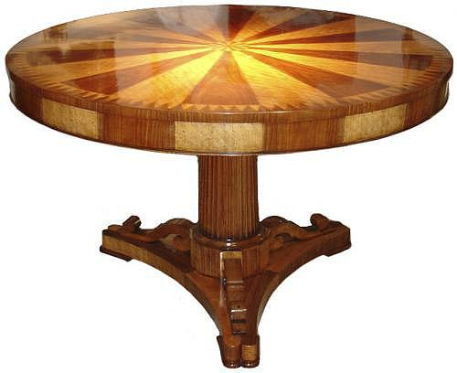 An 18th Century Italian Satinwood and Walnut Parquetry Center Table No. 3486