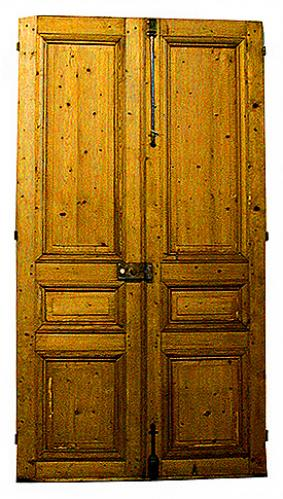 A Pair of 19th Century French Entry Doors 1029
