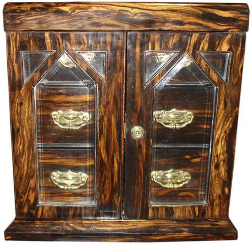 A 19th Century Macassar Ebony Valuables Box No. 3508