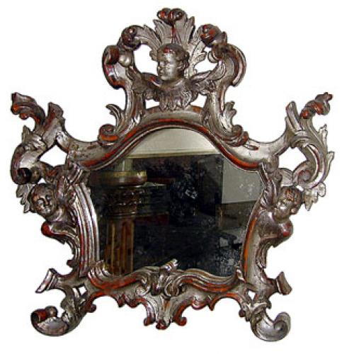 An Italian Silver-Gilt Mirror No. 787