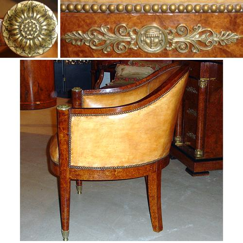 3527 A 19th Century French Charles X Barrel Chair No. 3527 - A 19th Century French Charles X Barrel Chair No. 3527 - C. Mariani