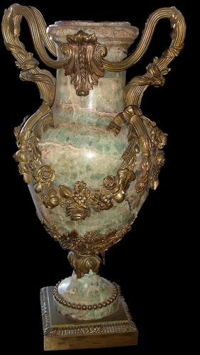 A Striking 19th Century Onyx and Orlmolu Urn No. 3552