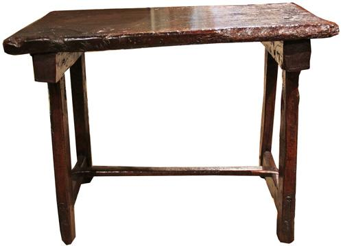 A 16th Century Italian Rustic Walnut Bench No. 3598