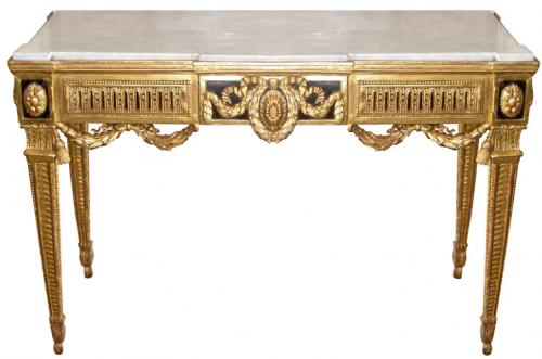 An Extraordinary 18th Century Giltwood Luccan Console Table No. 3616