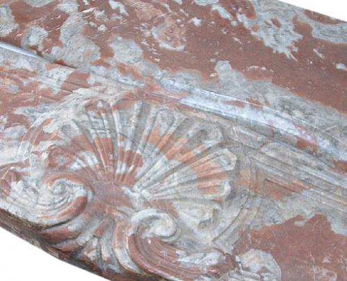 An 18th Century Variegated Terra Cotta/rouge Marble Fireplace Surround No. 2593