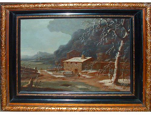 The 18th Century Winter Landscape entitled Paysage D'Hiver No. 2524