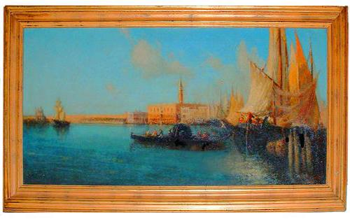 A Serene Oil on Canvas of Venice No. 2474