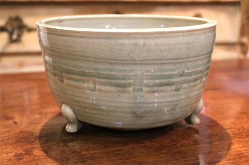 A Chinese Han Dynasty Footed Green Glazed Bowl No. 1426