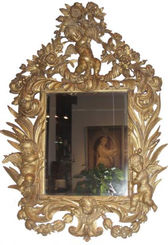 An 18th Century Italian Giltwood Mirror No. 3718