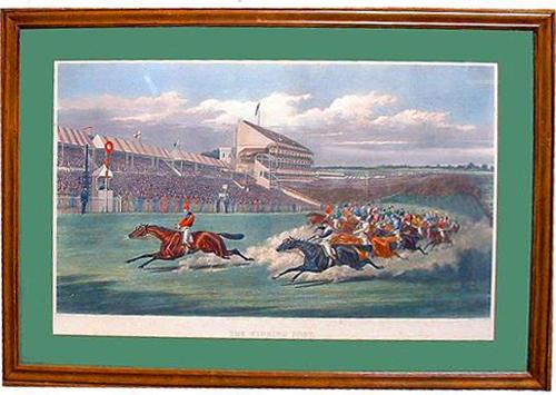 A 19th Century English Print of The Winning Post No. 2370