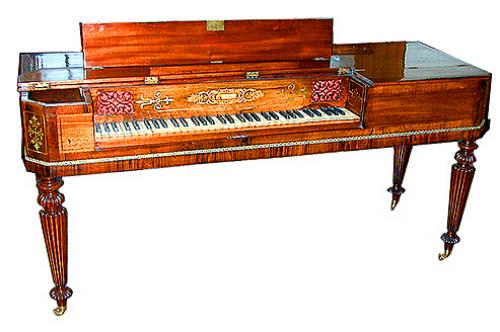 A Fine 19th Century English Spinet Mahogany Piano 998