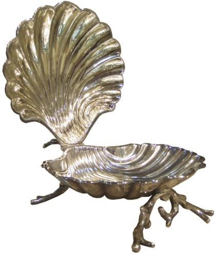 A 19th Century English Sterling Silver Clam-Shaped Sweets Dish No. 3816