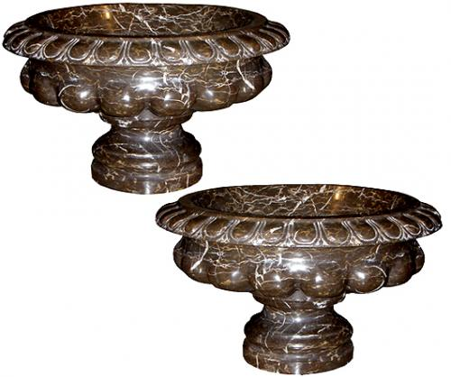 A Pair of Late 19th Century Italian Marble Tazzas No. 3808