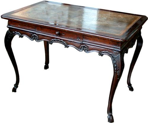 A 19th Century French Louis XIV Fruitwood Writing Table No. 610