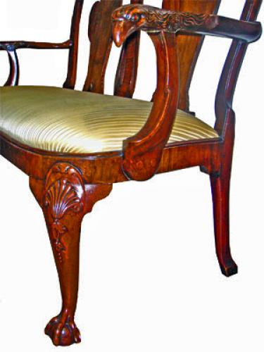A Superb 18th Century Queen Anne English Walnut Settee No. 3869