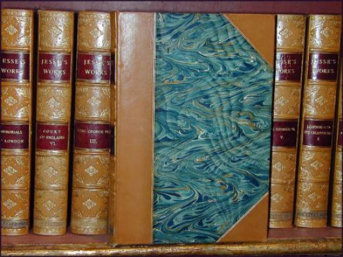 "An English Set of Thirty Leather-Bound Books Titled ""Jesse's Works"" No. 1122"
