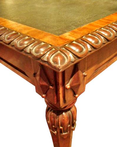 A 19th Century Irish Carved Mahogany Partners Desk No. 3895