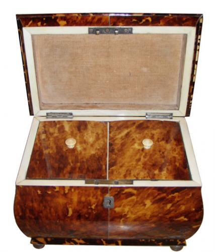 A 19th Century Tortoiseshell Tea Caddy No. 3897
