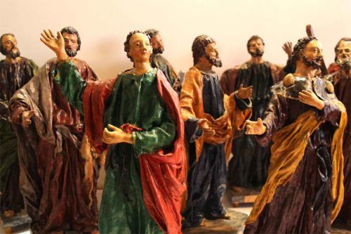 A Grouping of Nine 18th Century Florentine Polychromed Papier-Mâché Apostle Statues No. 3925