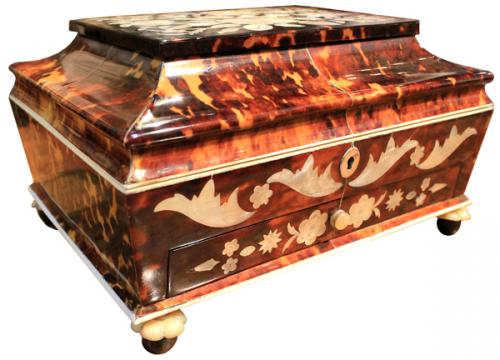 A 19th Century Tortoiseshell Tea Caddy No. 3949