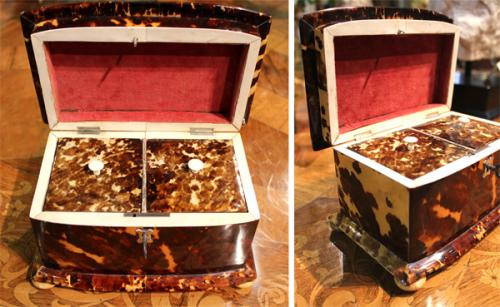 A 19th Century Tortoiseshell Tea Caddy No. 3943