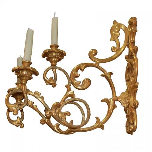 A Set of Four 18th Century Italian Giltwood Appliques No. 3935