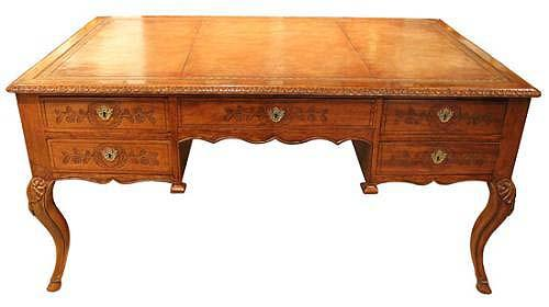 An 18th Century French Provincial Régence Walnut Partners' Desk No. 3977