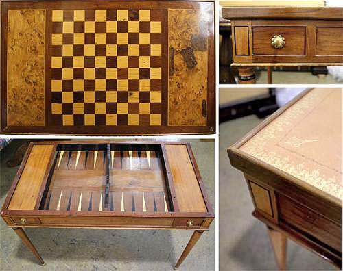 An 18th Century French Cherry Wood Tric-Trac Table No. 4009