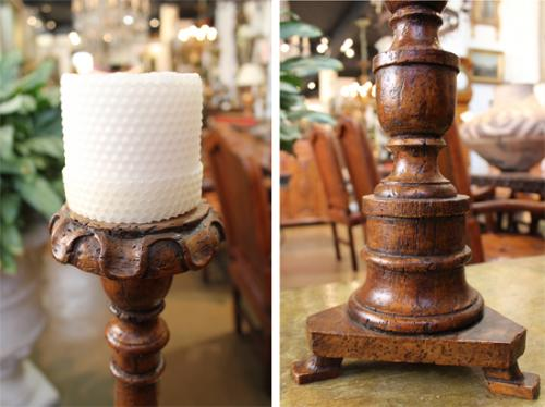 A Set of Six 19th Century Italian Walnut Candlesticks No. 3758