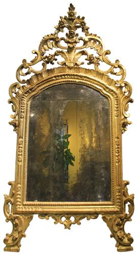 An 18th Century Italian Giltwood Piedmont Mirror No. 4032