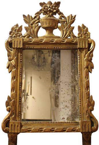 An 18th Century Italian Louis XVI Giltwood Mirror No. 4075