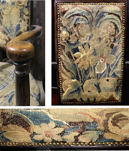A Rare Pair of 16th Century English Walnut Caquetoires No. 4099