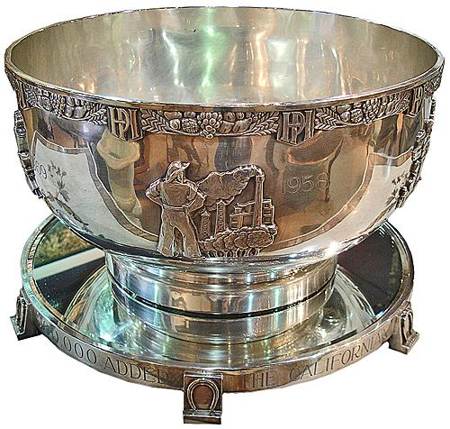 "The Magnificent 1958 ""$100,000 Californian Stakes"" Hollywood Park Horse Racing Trophy No. 3002"