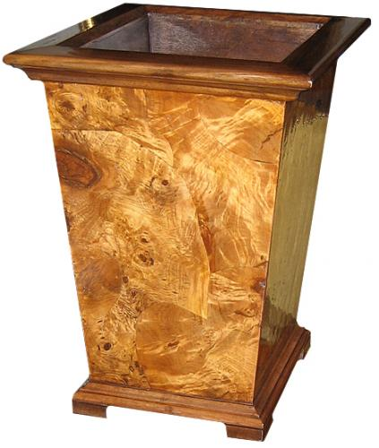 A Burl Ash Waste Paper Basket No. 3175