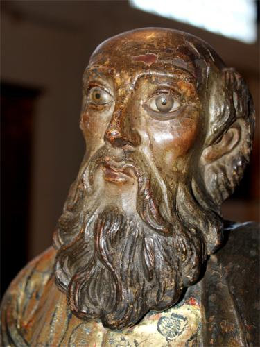 An Impressive 17th Century Carved Wood Statue of Saint Jude No. 2190