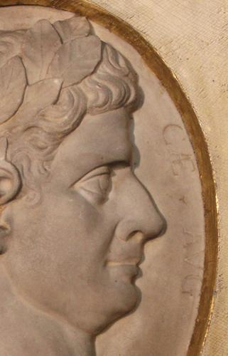 A 19th Century Italian Marble Plaque of the Roman Emperor Claudius No. 4134