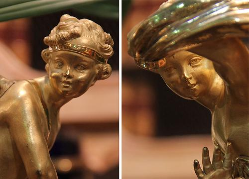 A Pair of 19th Century Italian Bronze Doré Playful Putti No. 4136