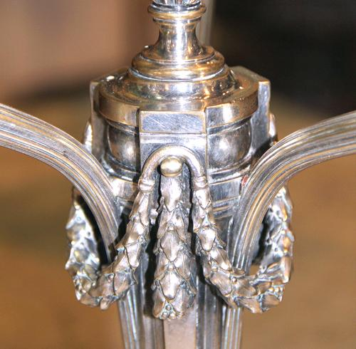 A Pair of 19th Century Silver-Plated Candlesticks No. 4171
