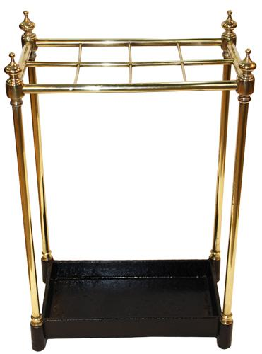 A Rare English Regency 19th Century Brass Umbrella or Walking Stick Stand No. 4246