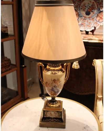 A 19th Century Sèvres Porcelain Urn now Electrified as a Lamp No. 4251