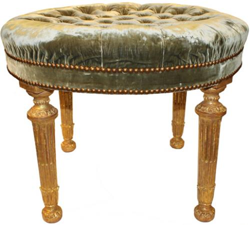 An English Palladian Four-Legged Circular Neo-Classical Bench No. 4240