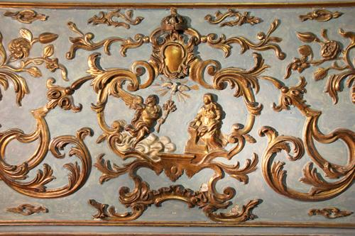 An Exquisite 18th Century French Louis XV Polychrome and Parcel-Gilt Boiserie Panel 4274